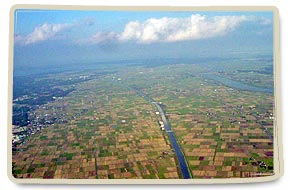 It is a rice field from the sky