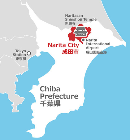 Narita easy to understand guide feel narita official website for approximately 214 square kilometers in area the population that the narita city is located on the north total plateau of the north chiba center gumiabroncs Choice Image